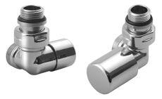 AQUALINE FIRST CORNER sada pripojovacích ventilov, chróm, CP920