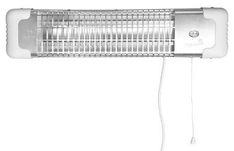 AQUALINE REGLETTE infražiarič nástenný, biely, R-1200