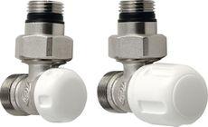 AQUALINE ECO sada pripojovacích ventilov, nikel/biela, CP9810