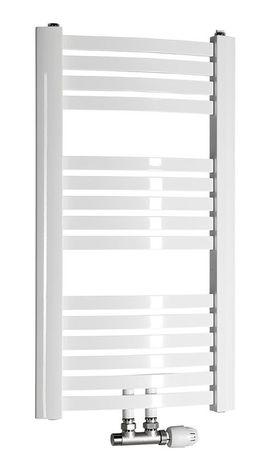 AQUALINE STING 55 x 81,7cm 387W oblý kúpeľňový radiátor, stredové pripojenie, biely, NG508