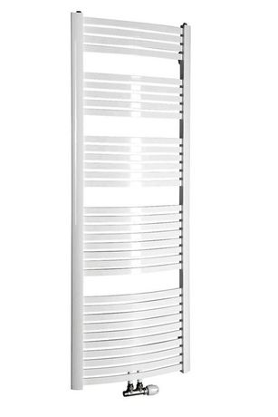 AQUALINE STING 65 x 174,1cm 968W oblý kúpeľňový radiátor, stredové pripojenie, biely, NG617