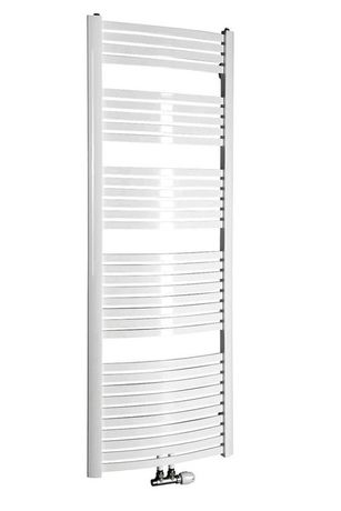 AQUALINE STING 55 x 174,1cm 839W oblý kúpeľňový radiátor, stredové pripojenie, biely, NG517