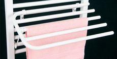 AQUALINE sušiak uterákov sklopný na rovné vykurovacie telesá, biely, 25-01-SV450