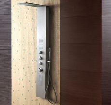AQUATEK DUBAI hydromasážny panel hliníkový, chróm matný