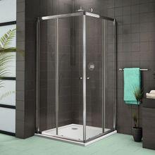 AQUATEK FAMILY A4 80cm sprchový kút štvorcový, profil chróm