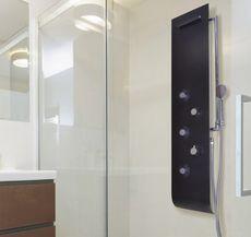 AQUATEK KUBA hydromasážny panel hliníkový, čierny matný, HPKUBAMB