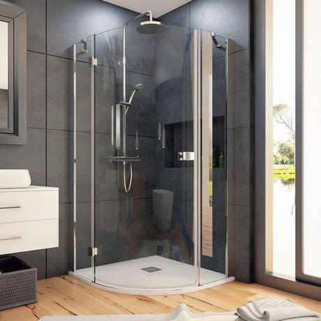 AQUATEK SMART S5 90cm ľavý sprchový kút štvrťkruhový, profil chróm, sklo číre, SMARTS5CH9062L