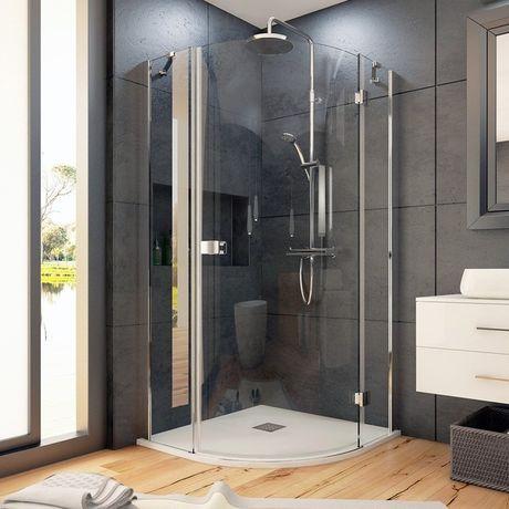 AQUATEK SMART S5 90cm pravý sprchový kút štvrťkruhový, profil chróm, sklo číre, SMARTS5CH9062P