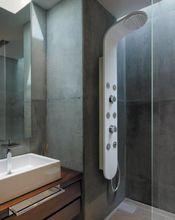 AQUATEK TOBAGO hydromasážny panel hliníkový, biely lesklý