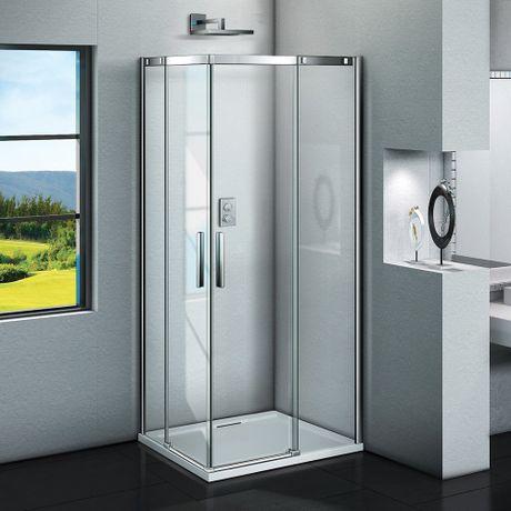 AQUATEK ZEUS A4 90cm sprchový kút štvorcový, profil chróm, sklo číre, ZEUSA4CH9062