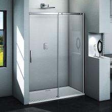 AQUATEK ZEUS B2 125cm dvere do niky / sprchový kút rohový, profil chróm, sklo číre, ZEUSB2CH12562