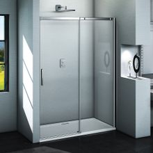 AQUATEK ZEUS B2 130cm dvere do niky / sprchový kút rohový, profil chróm, sklo číre, ZEUSB2CH13062