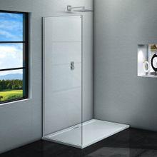 AQUATEK ZEUS F1 80cm pevná sprchová stena do kombinácie, profil chróm, sklo číre, ZEUSF1CH8062