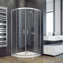 BESCO MODERN 185 štvrťkruhový 90cm sprchový kút, profil chróm
