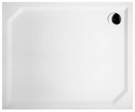 GELCO SARA 90 x 75cm sprchová vanička obdĺžniková nízka hladká, s nožičkami, liaty mramor, HS9075