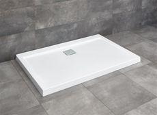 RADAWAY ARGOS D 100 x 90cm sprchová vanička obdĺžniková nízka, so sifónom, akrylát, 4AD910-01