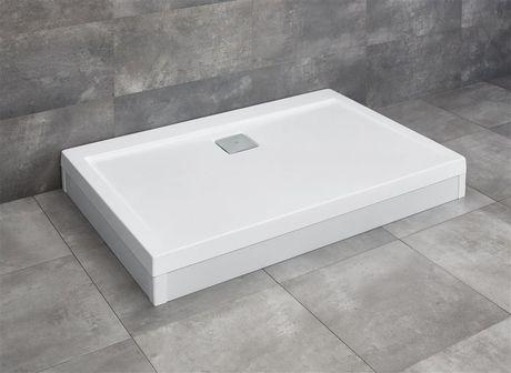 RADAWAY ARGOS D 100 x 90cm sprchová vanička obdĺžniková, so sifónom a nožičkami, akrylát, 4ADN910-02