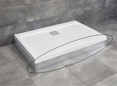 RADAWAY čelný panel 110cm pre vaničky ARGOS D, chróm, 001-510104001