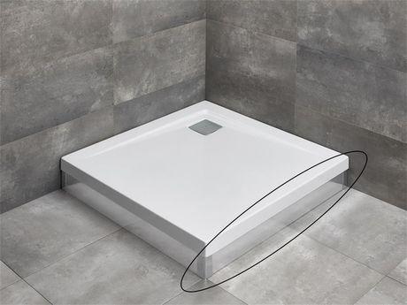 RADAWAY čelný/bočný panel 80cm pre vaničky ARGOS, chróm, 001-510074001
