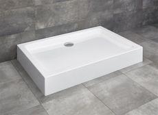 RADAWAY LAROS D 120 x 90cm sprchová vanička obdĺžniková, monoblok, s nožičkami a sifónom, akrylát, SLD91217-01