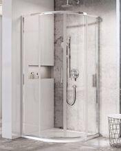 RAVAK BLIX SLIM BLSCP4 90cm sprchový kút štvrťkruhový, chróm, sklo číre, X3BM70C00Z1