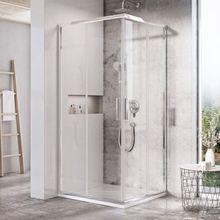 RAVAK BLIX SLIM BLSRV2 90cm sprchový kút štvorcový, chróm, sklo číre, X1LM70C00Z1