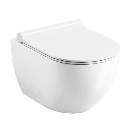 RAVAK UNI CHROME RIMOFF WC závesné, biele, X01535