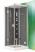 ROLTECHNIK DLS 90cm ľavý hydromasážny parný sprchový box štvorcový, 4000116