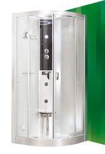 ROLTECHNIK LLR 100cm hydromasážny parný sprchový box štvrťkruhový, 4000117