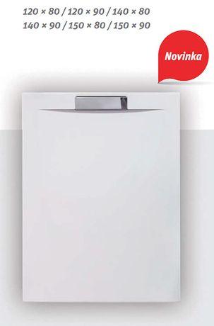 ROLTECHNIK PRESTOL 150 x 90cm sprchová vanička obdĺžniková s nerezovým krytom sifónu, liaty mramor, 8000305