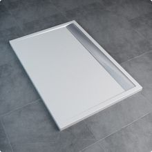 SANSWISS ILA 90 x 100cm sprchová vanička obdĺžniková, liaty mramor