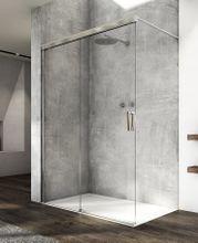 SANSWISS CADURA CAW2 110cm ľavý walk-in sprchový kút / sprchová stena samostatná s posuvným dielom, profil chróm, sklo číre, CAW2G1105007
