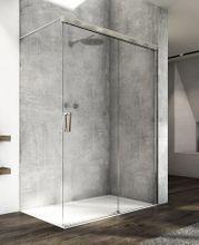SANSWISS CADURA CAW2 140cm pravý walk-in sprchový kút / sprchová stena samostatná s posuvným dielom, profil chróm, sklo číre, CAW2D1405007
