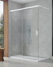 SANSWISS CADURA CAW2 160cm ľavý walk-in sprchový kút / sprchová stena samostatná s posuvným dielom, profil chróm, sklo číre, CAW2G1605007