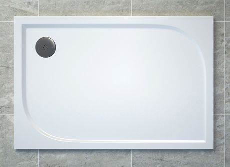 SANSWISS TRACY 80 x 100cm sprchová vanička obdĺžniková, liaty mramor, biela, WAA8010004
