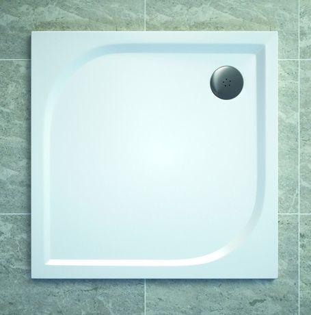 SANSWISS TRACY 80cm sprchová vanička štvorcová, liaty mramor, biela, WAQ080004