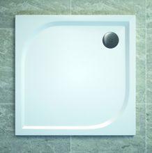 SANSWISS TRACY 90cm sprchová vanička štvorcová, liaty mramor, biela, WAQ090004